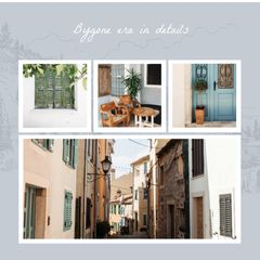 Cozy italian Courtyard in Photo Frame
