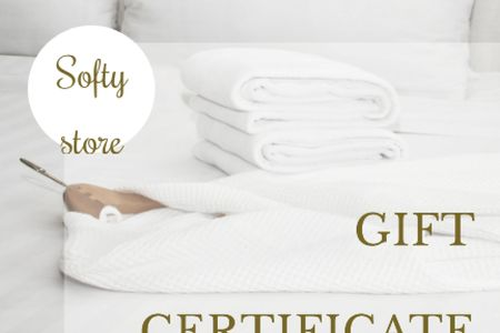 White robe and towels Gift Certificate Tasarım Şablonu