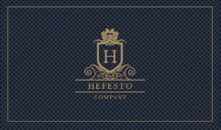 Vintage Decorative Logo Business card Modelo de Design