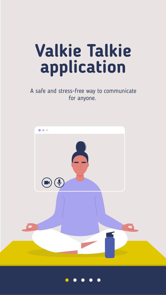 Communication app promotion Mobile Presentation – шаблон для дизайна