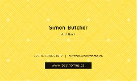Minimalistic geometric pattern Business card Modelo de Design