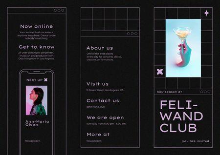 Ontwerpsjabloon van Brochure van Nightclub Promotion with Cocktail