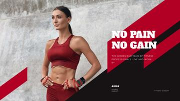 Fitness Program promotion with Woman at Workout