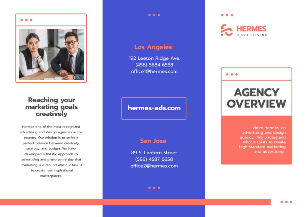 Advertising Agency Overview with Successful Businesspeople — Create a Design
