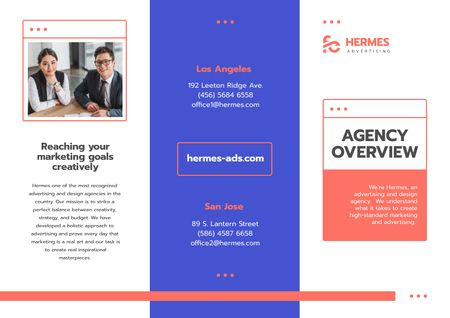 Advertising Agency Overview with Successful Businesspeople Brochure Modelo de Design