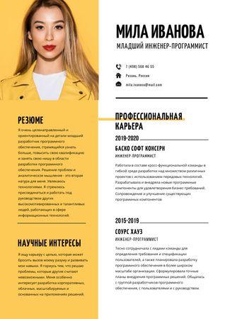 Software Engineer professional profile Resume – шаблон для дизайна