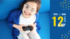 Girl playing video game