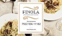 Italian Restaurant with Seafood Pasta Dish