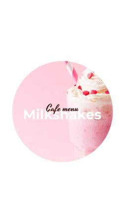 Cafe Menu with drinks and desserts Instagram Highlight Coverデザインテンプレート