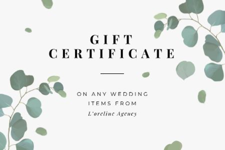 Wedding Items offer Gift Certificate – шаблон для дизайну