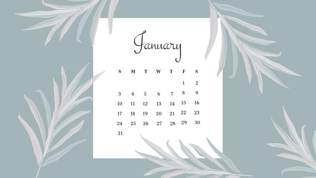 Beautiful Flowers frame Calendar Design Template