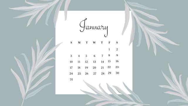 Beautiful Flowers frame Calendar – шаблон для дизайну