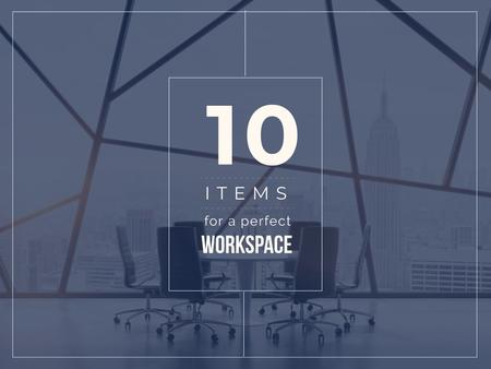 Items for a perfect Workspace Presentation Modelo de Design