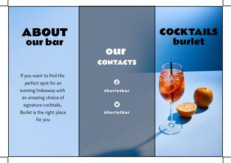 Ontwerpsjabloon van Brochure van Cocktails Offer with Oranges