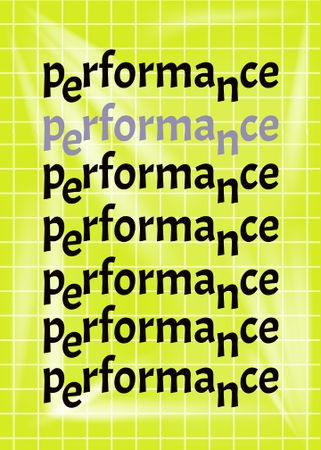 Template di design Performance announcement on grid background Flayer