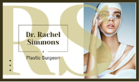 Woman at plastic surgery clinic Business card – шаблон для дизайну