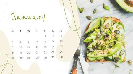 Healthy Breakfast Meal Calendar Tasarım Şablonu