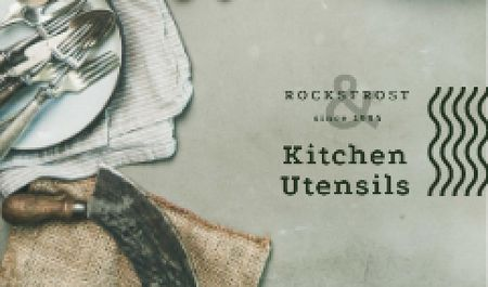 Kitchen Rustic Tableware Business card – шаблон для дизайна