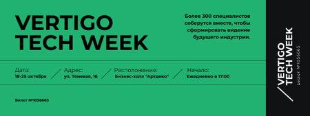 Tech Festival on Green Ticket – шаблон для дизайна