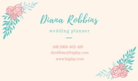 Wedding planner Contacts Information Business card – шаблон для дизайну