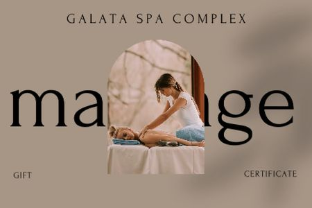 Woman at Spa Massage Therapy Gift Certificate – шаблон для дизайну