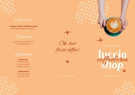 Coffee and Tea Shop Promotion Brochureデザインテンプレート