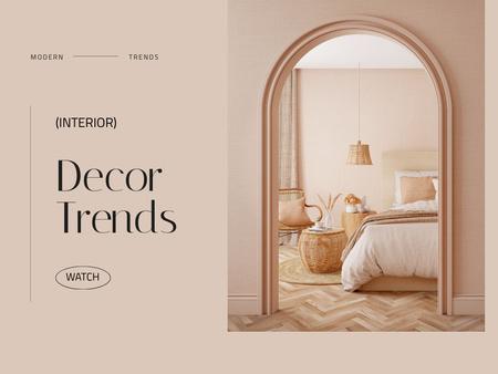 Ontwerpsjabloon van Presentation van Decor Trends Ad with Cozy Bedroom