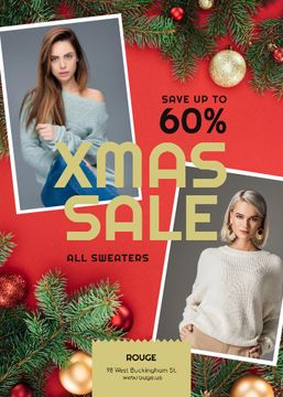 Christmas Sale Women in Warm Sweaters