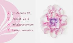 Cosmetics Ad with Pink Flower Petals