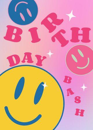 Birthday invitation with Smiley Flayer – шаблон для дизайну