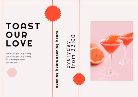 Ontwerpsjabloon van Brochure van Summer Cocktail with Grapefruit