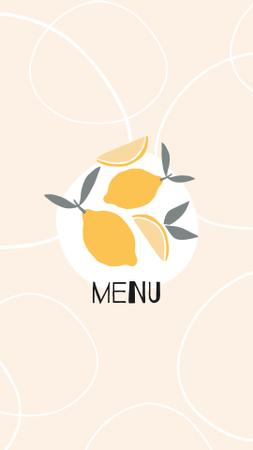 Food Delivery services with lemons and wine icons Instagram Highlight Cover Modelo de Design