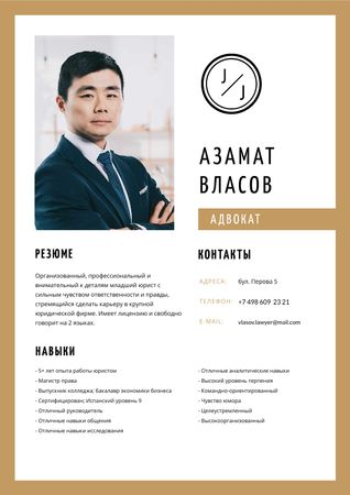 Professional Lawyer skills and experience Resume – шаблон для дизайна