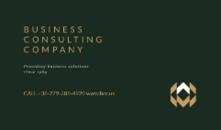 Plantilla de diseño de Minimalistic Logo on Green Background Business card