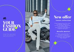 Fashion Ad with Young Woman in Stylish Outfit