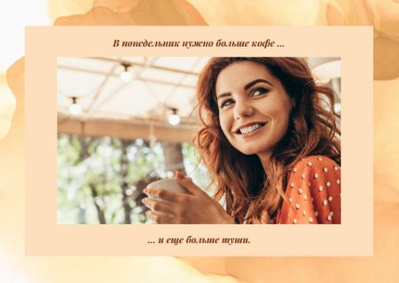 Young smiling woman Postcard – шаблон для дизайна