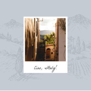 Cozy italian Courtyard in Photo Frame