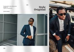 Fashion Ad with Stylish Man in Bright Outfit