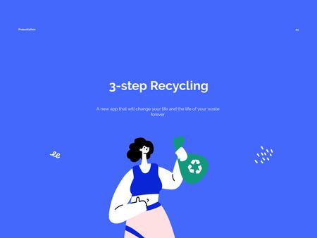 Modèle de visuel Eco Concept with Woman Recycling Waste - Presentation