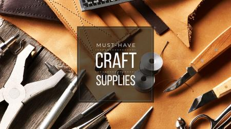 Craft supplies Offer Presentation Wide Modelo de Design