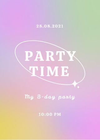 Party announcement on gradient background Flayer – шаблон для дизайну