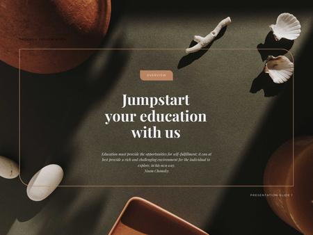 Ontwerpsjabloon van Presentation van Education Programs Ad