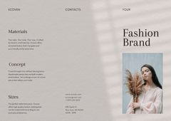 Fashion Brand Ad with Stylish Young Woman