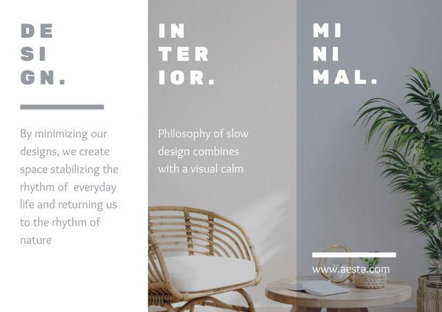 Minimalistic Home Interior Offer Brochure – шаблон для дизайна