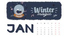 Winter Holidays decor and symbols