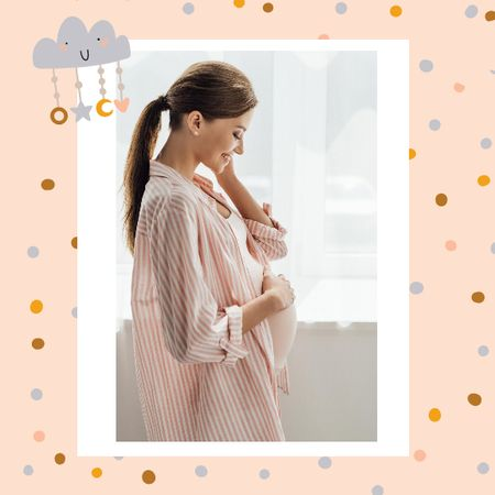 Pregnant Woman expecting baby memories Photo Bookデザインテンプレート