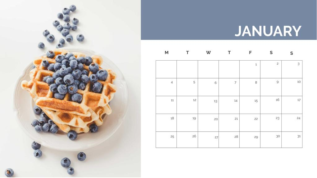 Delicious Desserts and Cakes Calendar Design Template
