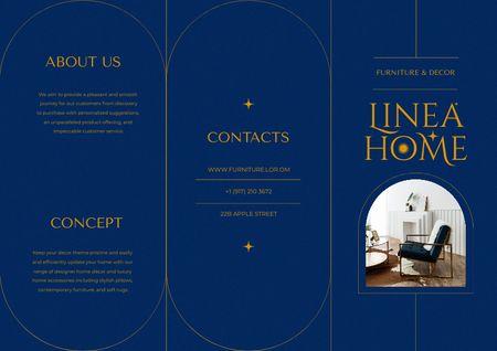 Ontwerpsjabloon van Brochure van Stylish Home Interior with Modern Chairs