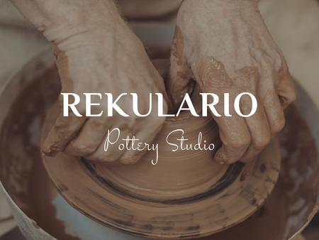 Plantilla de diseño de Hands of potter creating bowl Presentation