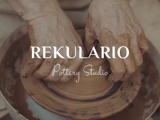 Designvorlage Hands of potter creating bowl für Presentation